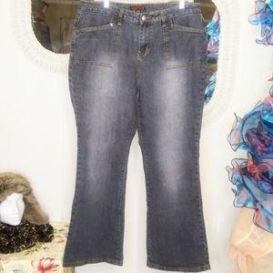 ZANA DI Mid-Rise Stretch Flare ZD Jeans